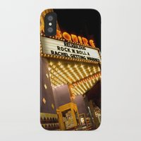 cinema iPhone & iPod Cases featuring Sidewalk Cinema by Stacey Cat