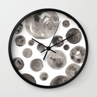 planets Wall Clocks featuring Planets by Dreamy Me