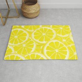 Splash of Lemon Watercolor Rug