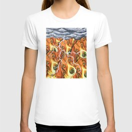 Beagle Villagers In The Thunderstorm #3 T-shirt
