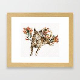 watercolor Taiwan Dog - Tabby Framed Art Print