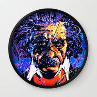 einstein Wall Clocks featuring Einstein by FEENNX