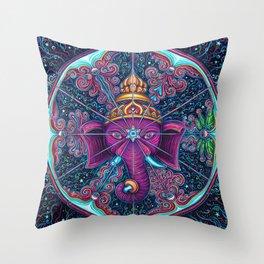 Eye of Ganesh Throw Pillow