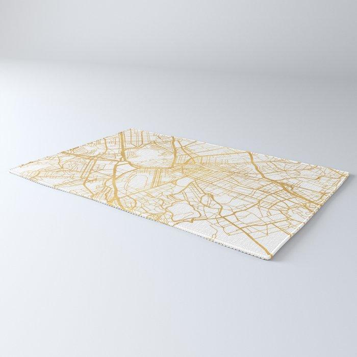 ATHENS GREECE CITY STREET MAP ART Rug