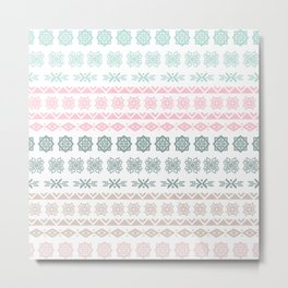 Modern pastel color geometrical scandinavian pattern Metal Print
