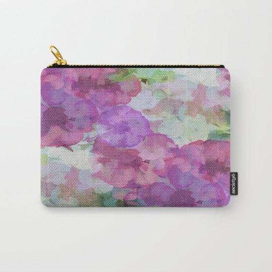 Sweet Peas Floral Abstract Carry-All Pouch