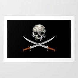 Skull And Crossed Swords Art Print