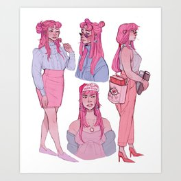 Bonnibel Bubblegum Art Print