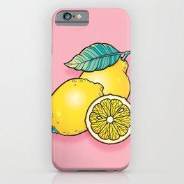 Lemon Bunch, vector flash design iPhone Case