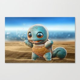 Realistic Squirtle Canvas Print