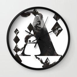 A alphabet Wall Clock