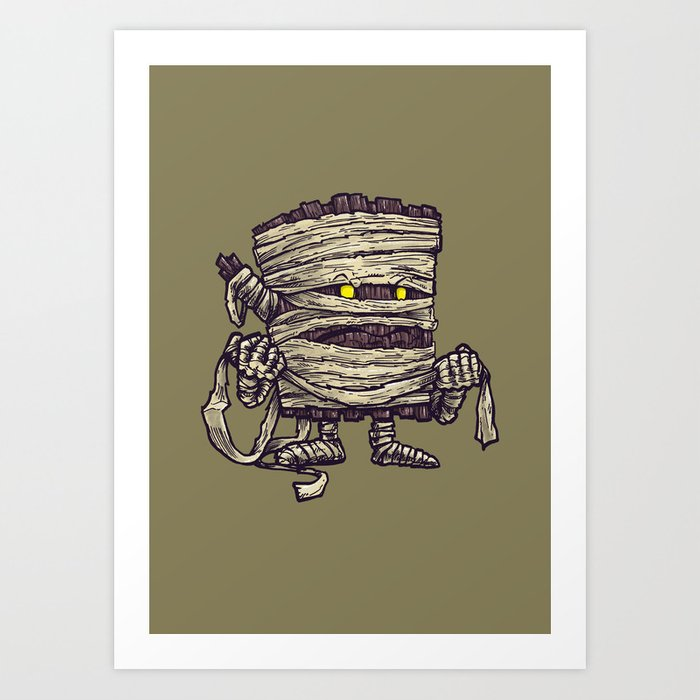 The Mummy Log Art Print
