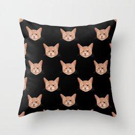 Kiki, the pretty blind cat Throw Pillow