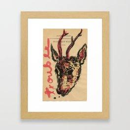 trouble, brave new world Framed Art Print