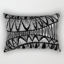 Original Creative black and white pattern illustration Rectangular Pillow