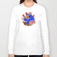 kaiju Long Sleeve T-shirts featuring Kookie Kaiju by Joel Jackson