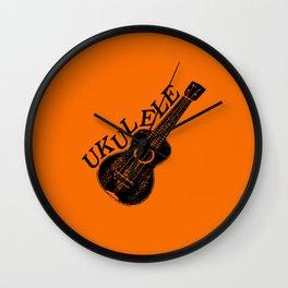 Ukulele Text And Image Wall Clock
