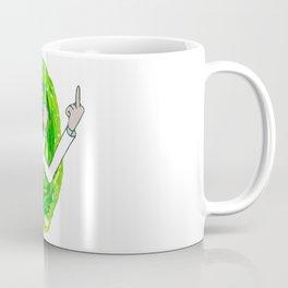 Rick And Mortyy Flip Off Coffee Mug