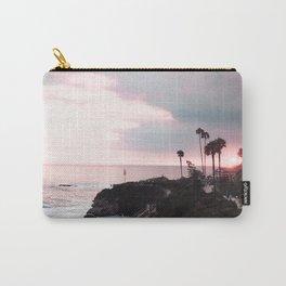 Laguna Beach | LoFi Relaxed Aesthetic Pinkish Sunset Palm Trees Hippie Ocean Horizon Waves Carry-All Pouch