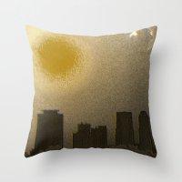 miami Throw Pillows featuring Miami by Maria Julia Bastias