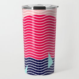 Hello Ocean Sunset Waves Travel Mug