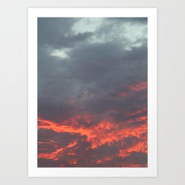 Irish Skies - Fiery Sky on a Summer Evening Art Print
