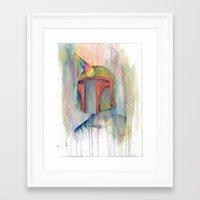 boba fett Framed Art Prints featuring Boba Fett by Emerald Barkley