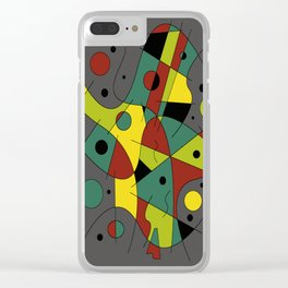 Abstract #226 The Cellist #2 Clear iPhone Case