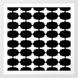 Sophisticated Black and White Print Art Print