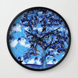 Plum Tree Hills Wall Clock