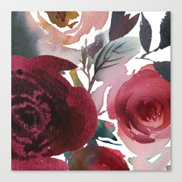 Rojo Floral Canvas Print