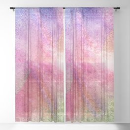 Prismatic Spectrum Sheer Curtain