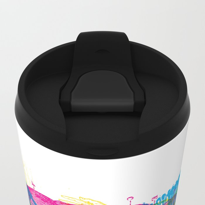Andreae Vesalii Montage Metal Travel Mug
