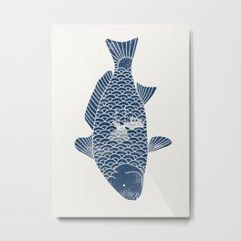 Fishing in a fish 2 Metal Print