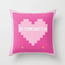 Pink Kawaii Undertale Determination pixel heart Throw Pillow