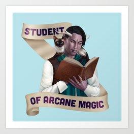 Wizard: Student of Arcane Magic Art Print