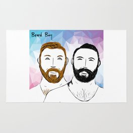 Beard Boy: Buttons and Snaps Rug