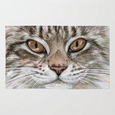 Young Tabby Cat Rug
