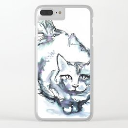 Kitty Soulmate Clear iPhone Case