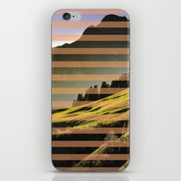Landscape pattern (with pink touches) iPhone Skin