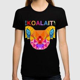"CUTE KOALA Rainbow Flag Gay Pride T-shirt Design ""Ekoalaity"" Rainbow Flag Koala EKOALA-TY Pun  T-shirt"