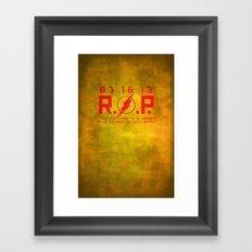 RIP Kid Flash Framed Art Print