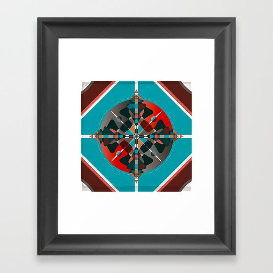 Compass, Palette 2 Framed Art Print