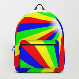 Mulri Colour Bright Ray Background Backpack