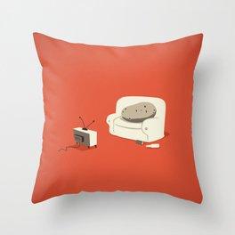 Couch Potato Throw Pillow