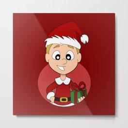 Christmas boy Metal Print