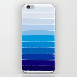 Kent - blue ombre brush strokes art iPhone Skin
