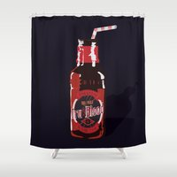 true blood Shower Curtains featuring True Blood - I wanna do bad things with you by Lita Rebello