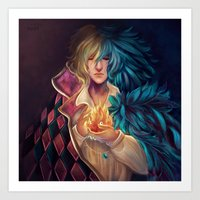howl Art Prints featuring Howl by This Is Niniel Illustrator