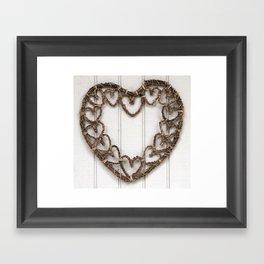 Heart of Twigs Framed Art Print